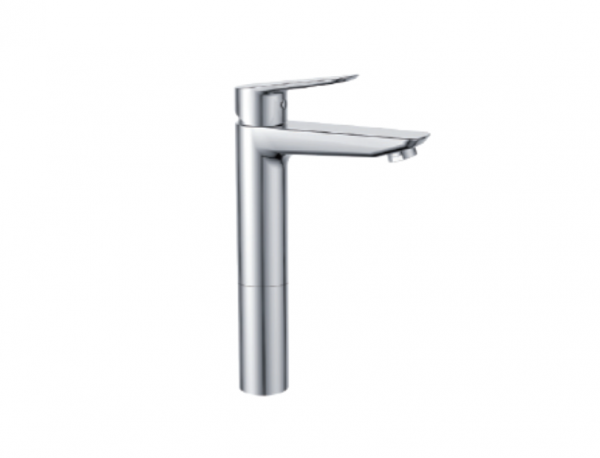 H+M Mainz Deck-mount high-rise basin mixer