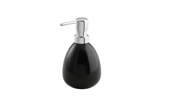 Wenko Polaris black Ceramic Soap dispenser