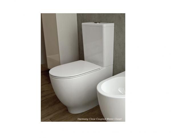 RAK Ceramics Harmony 2pc WC bowl only, P-trap 150mm