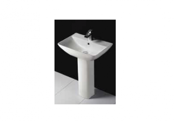 Rak Ceramics Series600 wall-hung basin with overflow