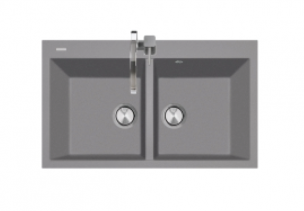 TELMA Cube double bowl granite sink 860mm