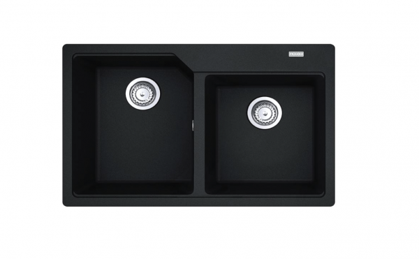 Franke Urban granite double bowl sink graphite