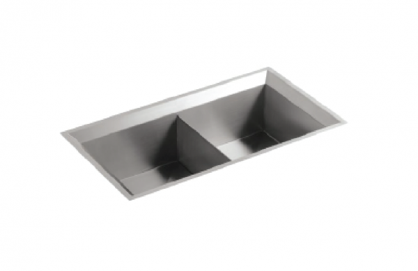 Kohler Poise double bowl sink