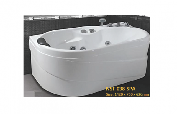 Nobel Back to wall whirlpool bathtub